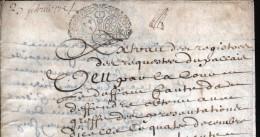 1734, GENERALITE DE PARIS,  Répété Sur Document En Peau, 4 Pages, 2 SCANS - Seals Of Generality