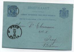 Netherlands/Czechoslovakia POSTAL CARD 1893 - Periode 1891-1948 (Wilhelmina)
