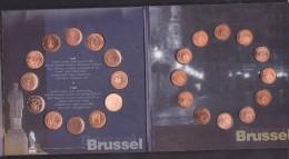 Coffret Des Monnaies De 1c Et 2 C Des 12 Pays De 2002 & 1 Médaille - SUP - Altri