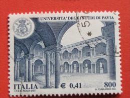 ITALIA USATI 2001 - UNIVERSITÀ´ DEGLI STUDI DI PAVIA - SASSONE 2569 - RIF. G 2238 LUSSO - 6. 1946-.. Repubblica