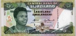 SWAZILAND : 5 Emalangeni 1995 (unc) - Swaziland