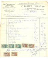Facture - Electricité Générale, Radio,... C. BORDET à DOLHAIN 1954 - Factures & Documents Commerciaux