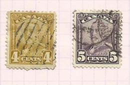 Canada N°132, 133 Cote 9 Euros - Oblitérés