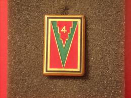 """Insignes Militaire """"4ème Division D'Infanterie"""" -  Military Badges P.V. - - Armée De Terre"""