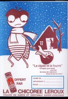 PC211 - PROTEGE CAHIER - LA CHICOREE LEROUX - La Cigale Et La Fourmi - Book Covers