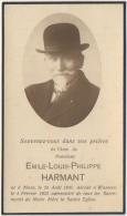 Doodsprentje/Image Pieuse Mortuaire. Emile Harmant. Mons 1845/Wasmes 1933. - Images Religieuses