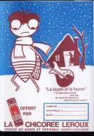 PC213 - PROTEGE CAHIER - LA CHICOREE LEROUX - La Cigale Et La Fourmi - Book Covers