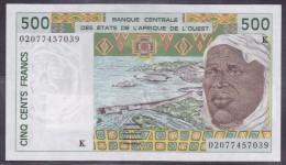 Sénégal - 500 Francs Pick N°710Km - Sign. 31/2002 - Neuf - Senegal