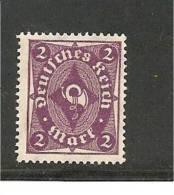 Mi.nr.224++/ 1922 Posthorn 2 M. ** - Deutschland