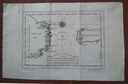 MAPPA CARTA GEOGRAFICA DU DETROIT DE LE MAIRE TERRE DE FEU ISLE DES ETATS ARGENTINA ANNO 1763 - Carte Geographique