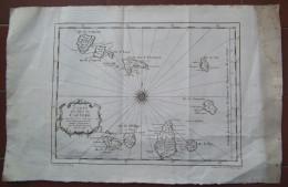 MAPPA CARTA GEOGRAFICA CARTE DES ILES DU CAP VERD CABO VERDE AFRICA ANNO 1746 - Carte Geographique