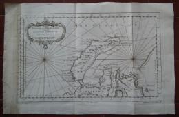 MAPPA CARTA GEOGRAFICA CARTE PARTIE DE LA MER GLACIALE NOUVELLE ZEMBLE PAYS DES SAMOIEDES RUSSIA SIBERIA ANNO 1758 - Carte Geographique