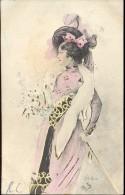 CP - Femme Art Nouveau - Illustrateur Bottaro - Fontaine L'Eveque 1902 - Bottaro