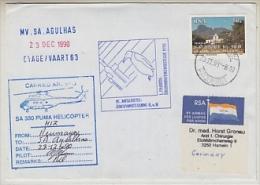South Africa 1991 MV Agulhas Heli Flight (23-12-90) From Base Neumayer To MV Agulhas Si Pilot (26578) - Polar Flights