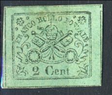 Stato Pontificio 1867, N. 13 C. 2 Verde Giallo MNG (nuovo Senza Gomma) Cat. € 40 - Etats Pontificaux