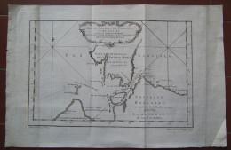 MAPPA CARTA GEOGRAFICA CARTE DU DETROIT DE WAEIGATS OU DE NASSAU NOUVELLE ZEMBLE SAMOIEDIE RUSSIA SIBERIA ANNO 1757 - Carte Geographique
