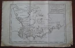 MAPPA CARTA GEOGRAFICA CARTE LE PAYS DES HOTTENTOTS CAP DE BONNE ESPERANCE CAPO DI BUONA SPERANZA SUDAFRICA ANNO 1757 - Carte Geographique