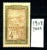 FRANCIA - MADAGASCAR - Year 1908 - Nuovo - News - MLH*. - Madagaskar (1889-1960)