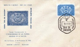ARGENTINA FDC 1955 - 3 Peso Auf First Day Cover - Argentinien