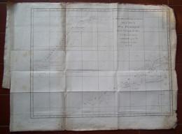 MAPPA CARTA GEOGRAFICA CARTE DES DECOUVERTES FAITES DANS LA MER PACIFIQUE CAPITAINE COOK ANNO 1774 HEBRIDES CALEDONIA - Carte Geographique