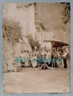Gières, Photo Souvenir Des Manoeuvres De Pontage Sur L´Isère, Près Grenoble, 1899, Photo Sur Carton, Scan Recto-verso - Lieux