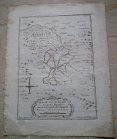 MAPPA CARTA GEOGRAFICA CARTE DE LAC DE MEXICO ET DE SES ENVIRONS LORS DE LA CONQUESTE DES ESPAGNOLS ANNO 1757 - Carte Geographique