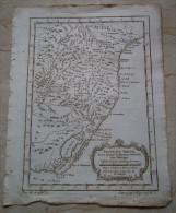 MAPPA CARTA GEOGRAFICA CARTE DU BRESIL BRASILE ANNO 1757 - Carte Geographique