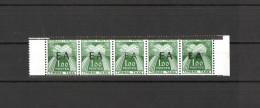 Algérie 1962 - Timbres Taxe, Bande De 05 Surcharge Typo EA ( Diff ) ,Yvert# Taxe 58 - Neufs Sans Charnières ** RARE ! - Algeria (1962-...)