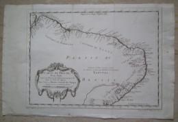 MAPPA CARTA GEOGRAFICA CARTE DU BRESIL BRASIL DEPUIS LA RIVIERE DES AMAZONES LA BAYE DE TOUS LES SAINTS ANNO 1757 - Carte Geographique
