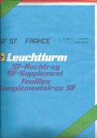 LEUCHTTURM SF-Feuilles Préimprimées France 1997 - Albums & Reliures