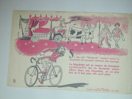 BUVARD   VELO BICYCLETTE Boeufs - Bikes & Mopeds