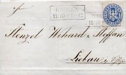 ALLEMAGNE PRUSSE LETTRE DE GASSEN 1866 - Allemagne