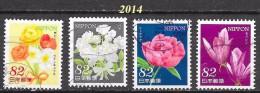 Japon  - Flore - Y&T N° 6520 / 6523 - Oblitérés - Lot 246 - Usati