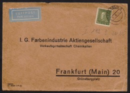 SWEDEN Postal History Airmail Cover Used 1934 From STOCKHOLMS To FRANKFURT 1.4.1934 - Zweden