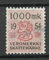 FINLAND Steuermarke Revenue Tax 1000 Markka 1954 O - Fiscales