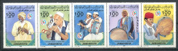 154 LIBYE 1985 - Instrument Musique Musicien (Yvert 1492/96) Neuf ** (MNH) Sans Charniere - Libya