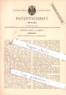 Original Patent - George Cole In London , 1889 , Schaukelpferd !!! - Toy Memorabilia