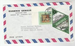1978 Air Mail VENEZUELA COVER Stamps 70c Diamond SHape STAMP Obras Publicas , 30c CHRISTMAS To Switzeland - Venezuela