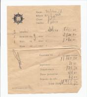 Billet Bateaux PORTUGAL CCN Companhia Colonial De Navegação. Ship PAQUEBOT IMPERIO Paquete (preço Dos Bilhetes) - Billets D'embarquement De Bateau