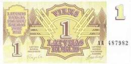 1992 LATVIA- ROUBELS / ROUBLE -1  UNC - Latvia