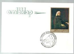 2863 Hungary SPM Art Music Instrument Piano Beethoven Memorial Card - Musik