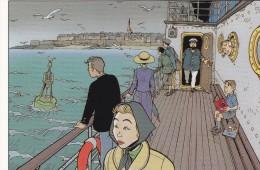 Carte Postale SIMON Fred Festival BD Saint-Malo 1998 (Tintin Poisson Clown..) - Postcards