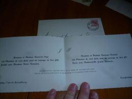 AA3-7 LC139 Invitation De Mariage 1953 Familles Denoncin Fays Renneson Pansard - Beauraing Et Noirefontaine - Mariage