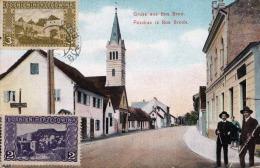 Gruss Aus BOS BROD - 2 Fach K.u.K.Militärpost Bosnien-Herzogowina Frankierung Auf Ak Gel.1917 N.Brokau Deutschland ... - Bosnien-Herzegowina