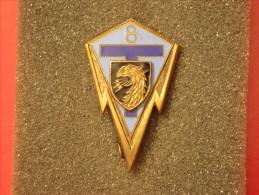 """Insignes Militaire """"8ème Régiment De Transmissions"""" -  Military Badges P.V. - - Armée De Terre"""