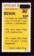 Bénin 2009  (Discours De Martin Lhuter King  -  50F/30F )  Luxe **   TRES RARE - Benin – Dahomey (1960-...)