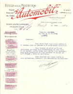 """HUILE POUR MOTEUR   """"AUTOMOBIL""""   ROUEN ET. P. BOUTET ROUEN 1923 - 1900 – 1949"""
