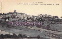 46 -  CASTELNAU MONTRATIER - Vue Prise De La Route De La Truffe - Dos Vierge  - TTBE - 2 Scans - Autres Communes