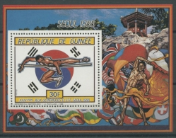 Guinea 1987 Olympiade Seoul Block 247 A Postfrisch (C22116) - República De Guinea (1958-...)