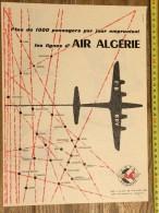 PUB PUBLICITE 1950/1960 AIR ALGERIE CGTA - Vieux Papiers